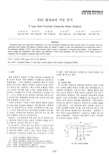 1. TSC 합성보의 거동 분석