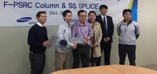 싱가포르 건설부(BCA) SEN 신공법 적용현장 방문